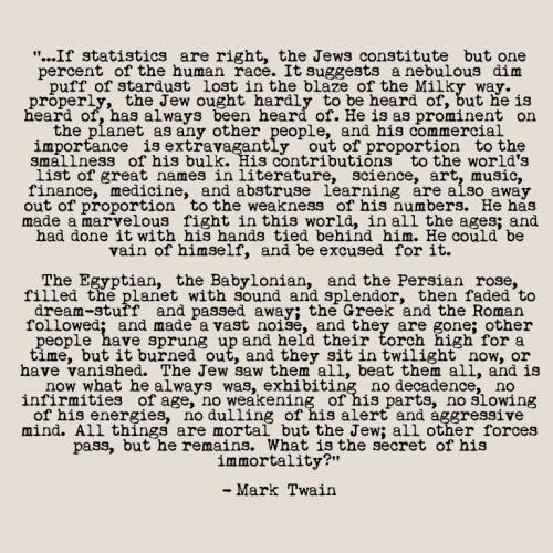 concerning jews essay mark twain The complete essays of mark twain in 1898, mark twain's essay about a raucous parliament-meeting in austria was published  'concerning the jews', by mark.