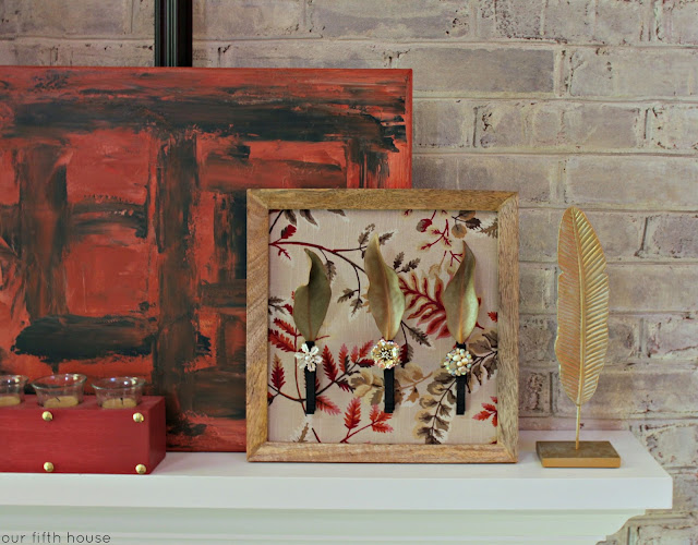 Easy DIY Fall Mantel Art