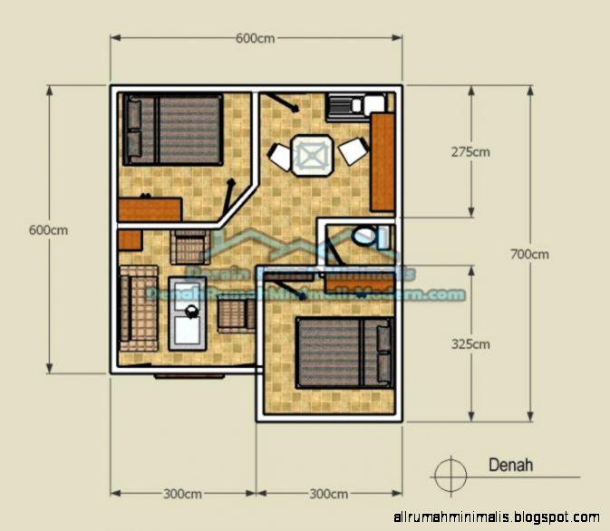 denah rumah minimalis type 21 design rumah minimalis
