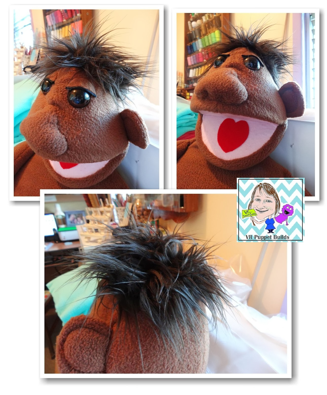 Making Puppet Wig With Hose 66