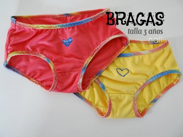 Bragas 3 años