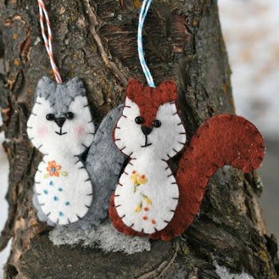 Free Felt Patterns: Free Felt Pattern > Woodland Squirrel Ornament