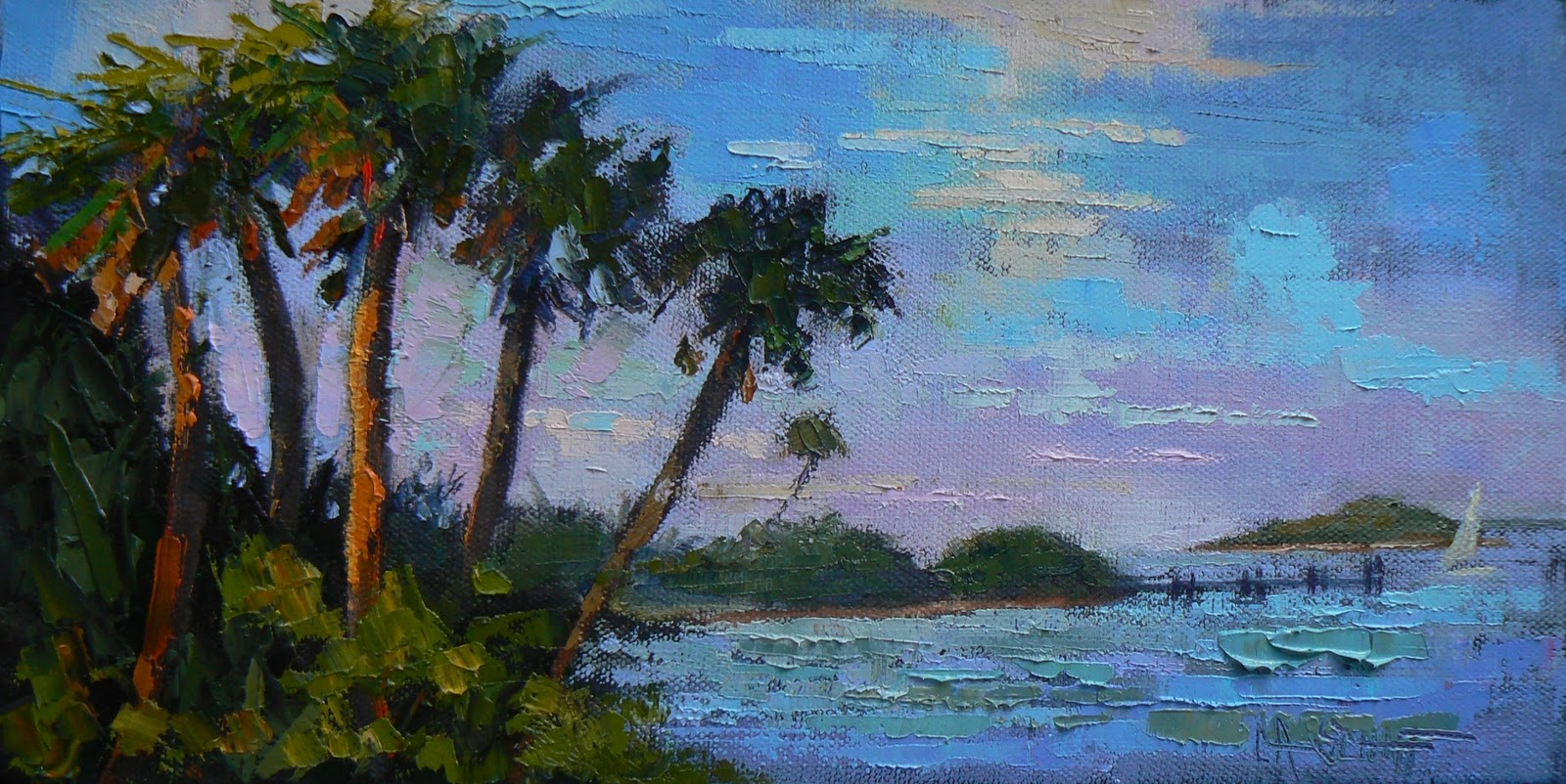 CAROL SCHIFF DAILY PAINTING STUDIO Tropical Landscape Painting