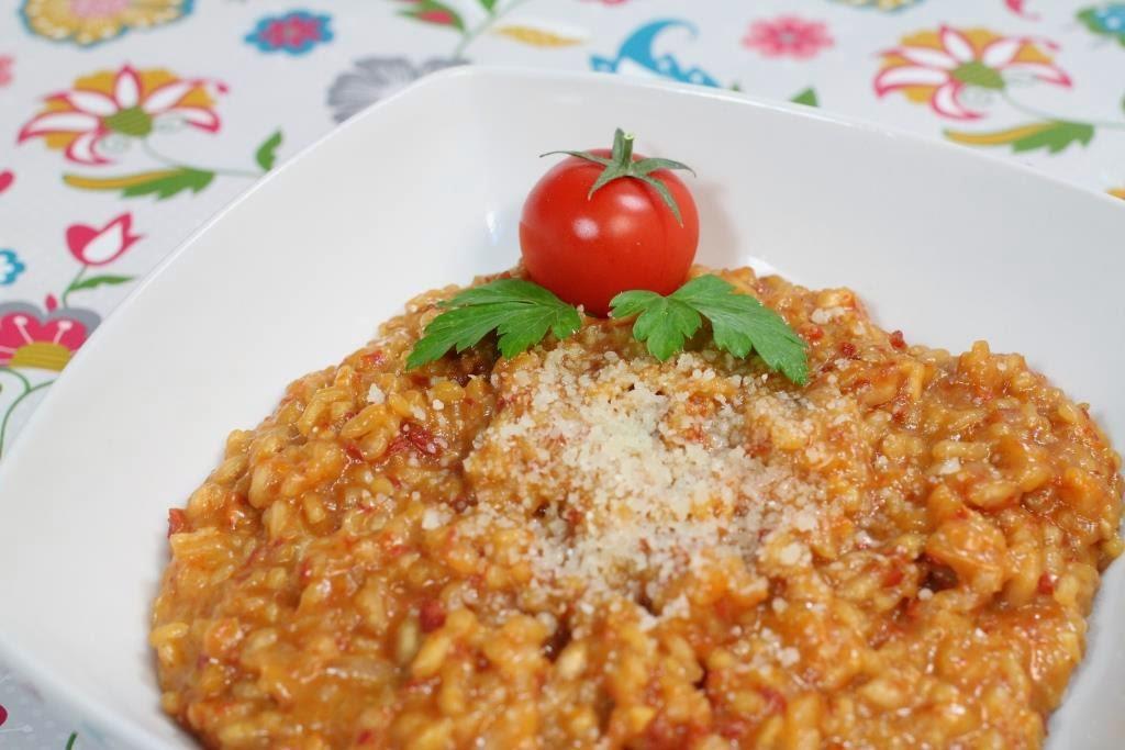 Risotto de tomats secos y grana padano - El dulce mundo de Nerea