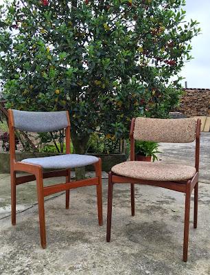 cadeiras, vintage, design nórdico