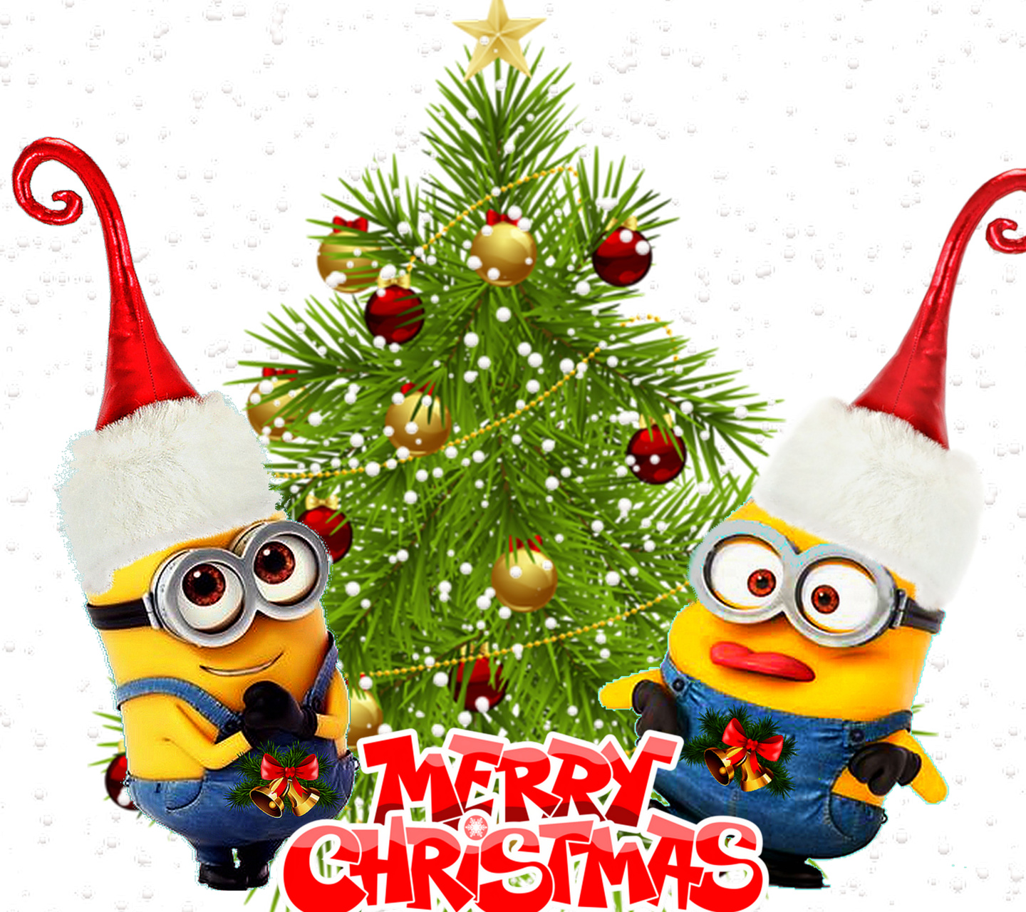 free download hd wallpaper to download minions and christmas tree - Minions Christmas Tree