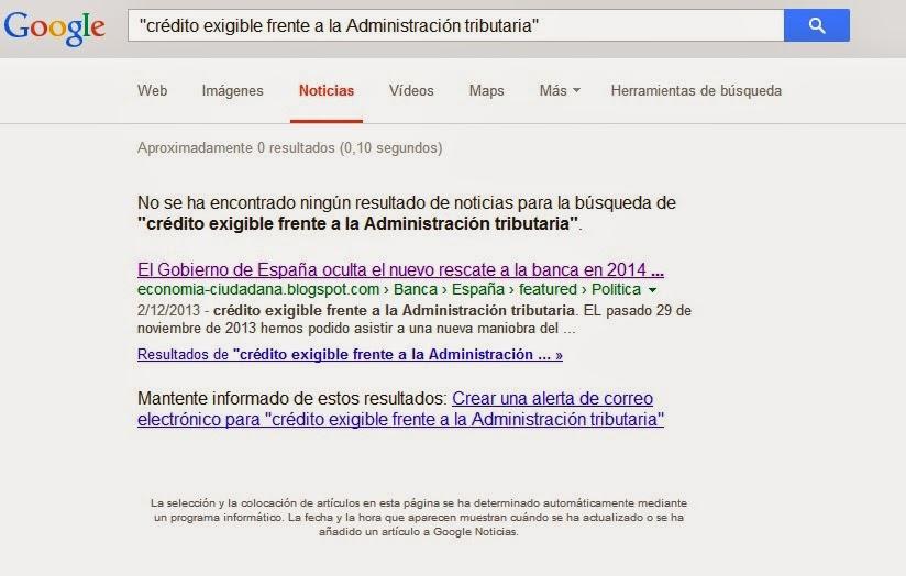 los Créditos Fiscales o créditos exigibles frente a la Administración tributaria en Google News