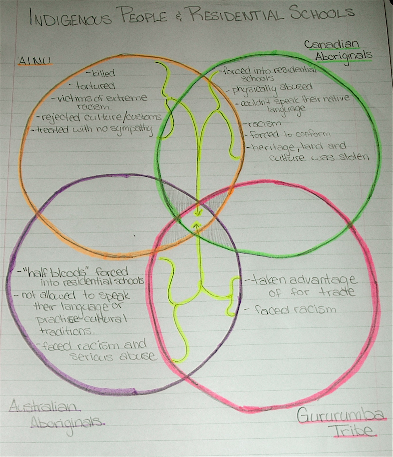 Social Justice 12  Indigenous Peoples Venn Diagram
