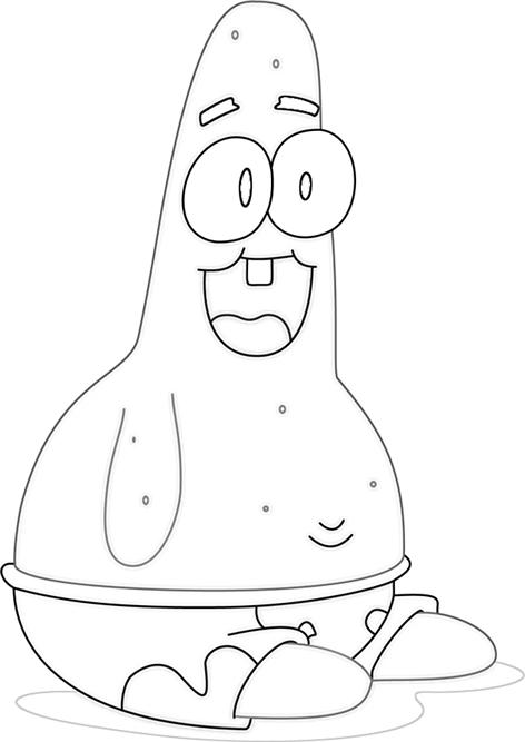 Baby patrick star coloring pages