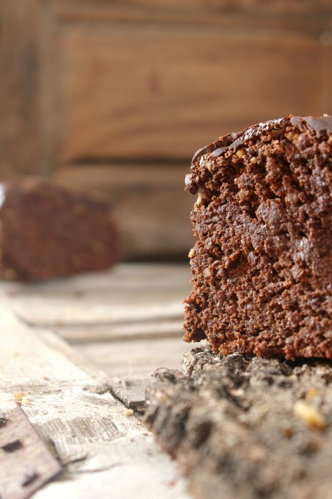 Tarta de chocolate,calabaza y semillas de lino,almendras y nueces