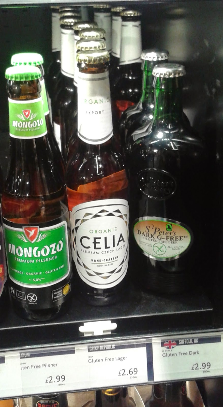 Gluten Free Beer and Lager in Whole Foods Market Piccadilly