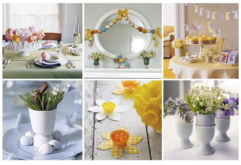 Last minute easter decor white ribbons event design and