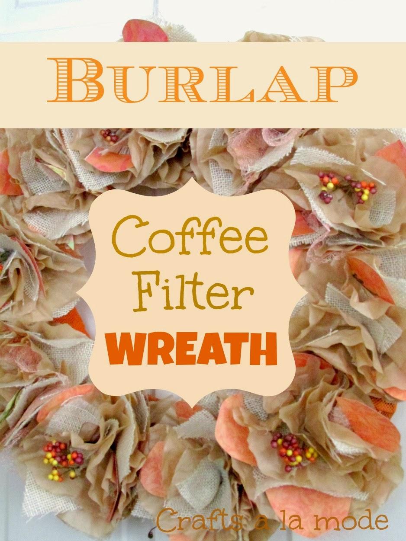 Simple, Sweet Burlap Door Decor   Crafts a la mode