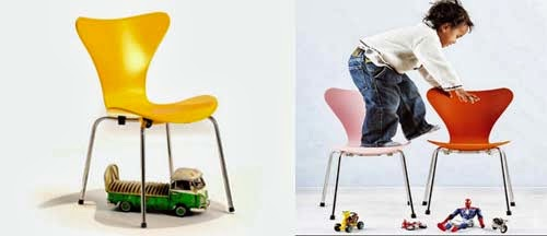 cadeira jacobsen infantil decoração