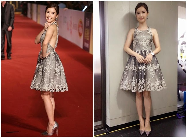 2014 Golden Bell Awards: Chia-Ying Lee wore the same Alice + Olivia gown with Olivia Holt、Lydia Hearst