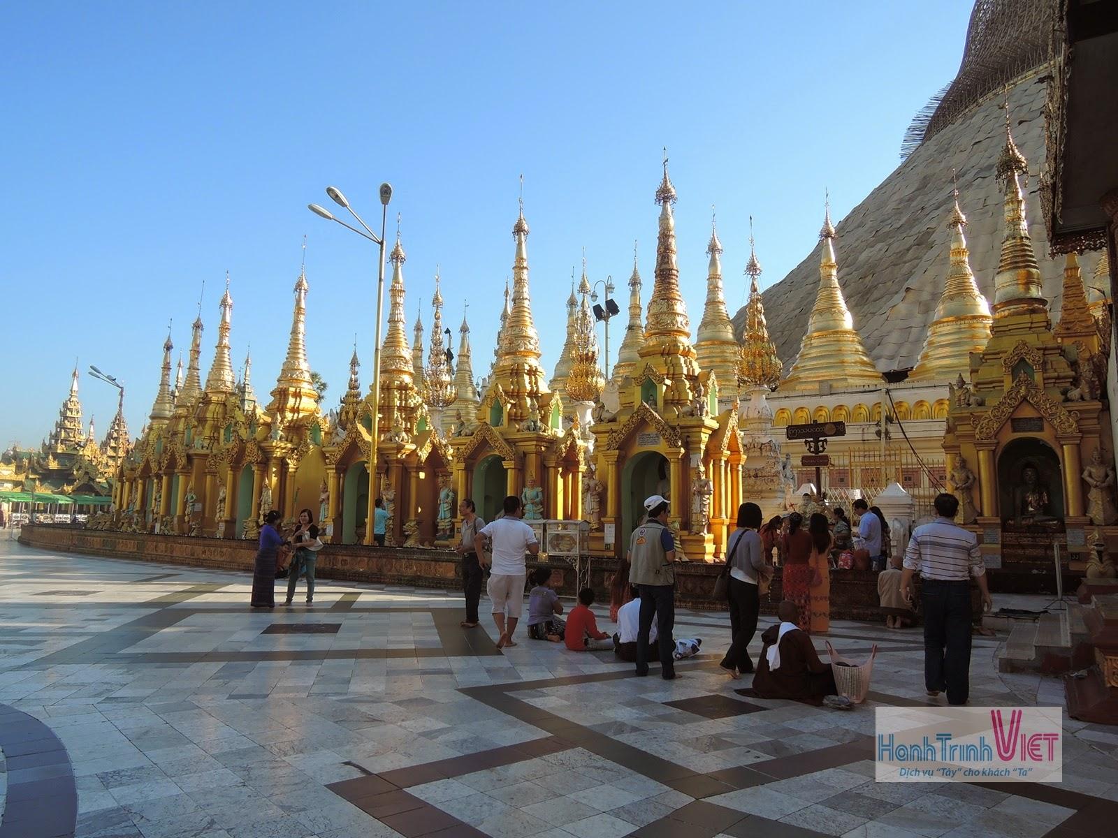 Tham quan chùa Swedagon o Yangon