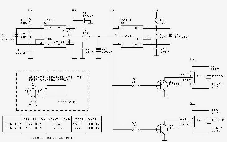 Digital Alarm Clock Circuit Diagram | Piezo Alarm Using 555 Timer Circuit Diagram