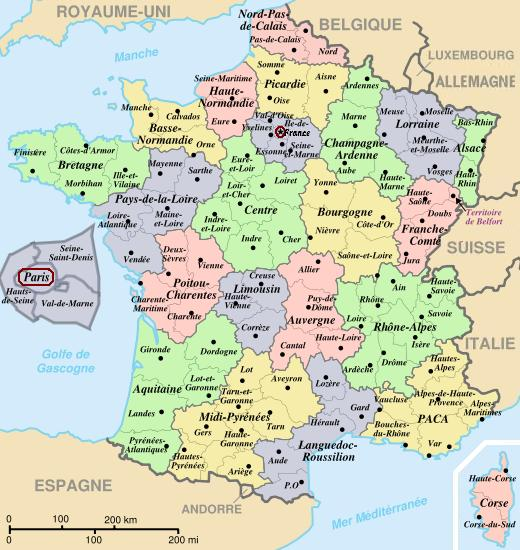Mapa de Francia Ciudades