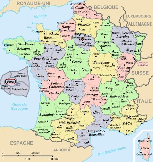 Mapa de Francia Ciudades