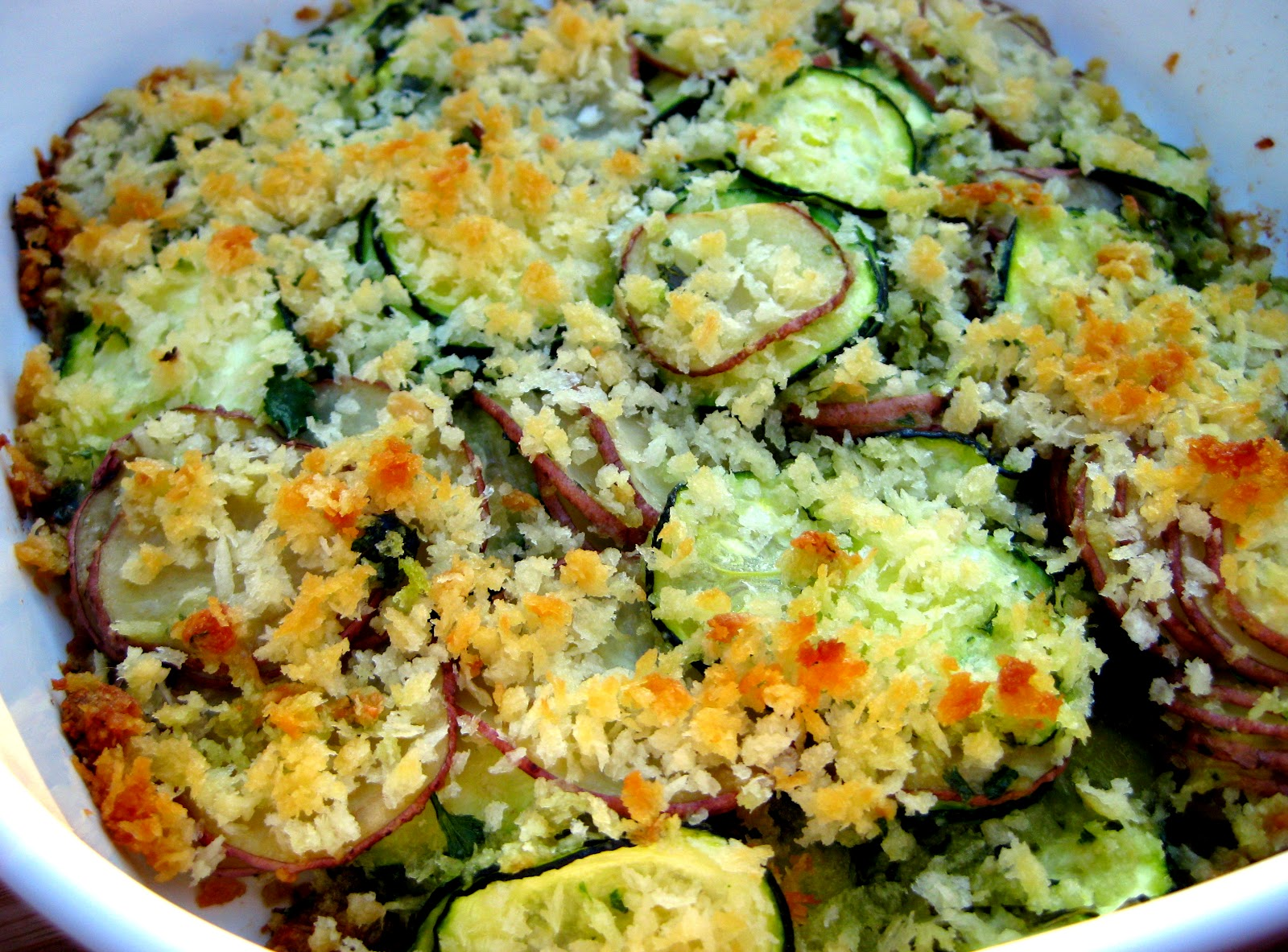 Karis' Kitchen | A Vegetarian Food Blog: Summer Squash Gratin