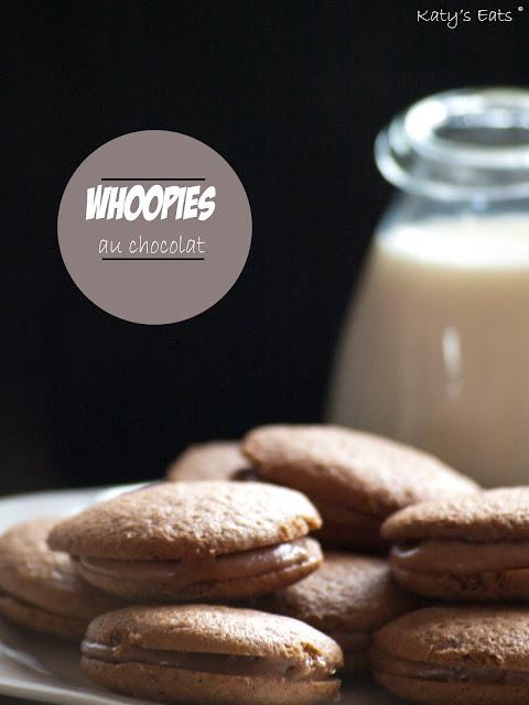 Whoopies au chocolat, whoopies, whoopies maison, chocolat