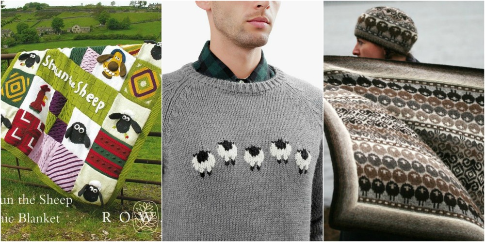 shaun the sheep knitted blanket sweater scarf kate davies wool and the gang