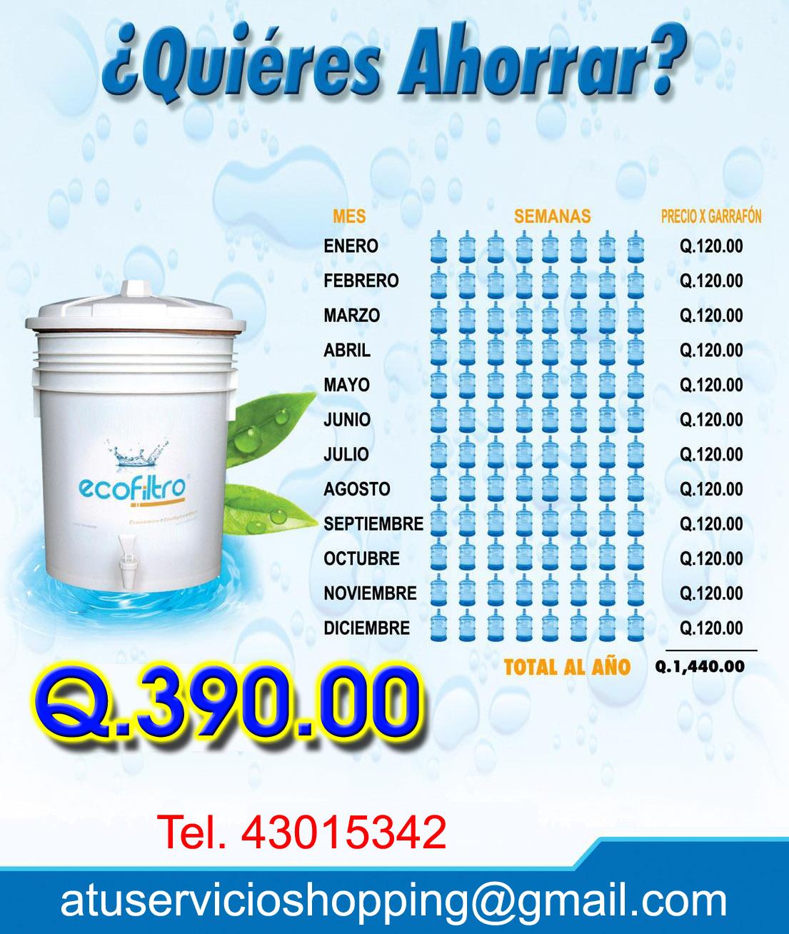 Agua y filtros - Filtro de agua precio ...