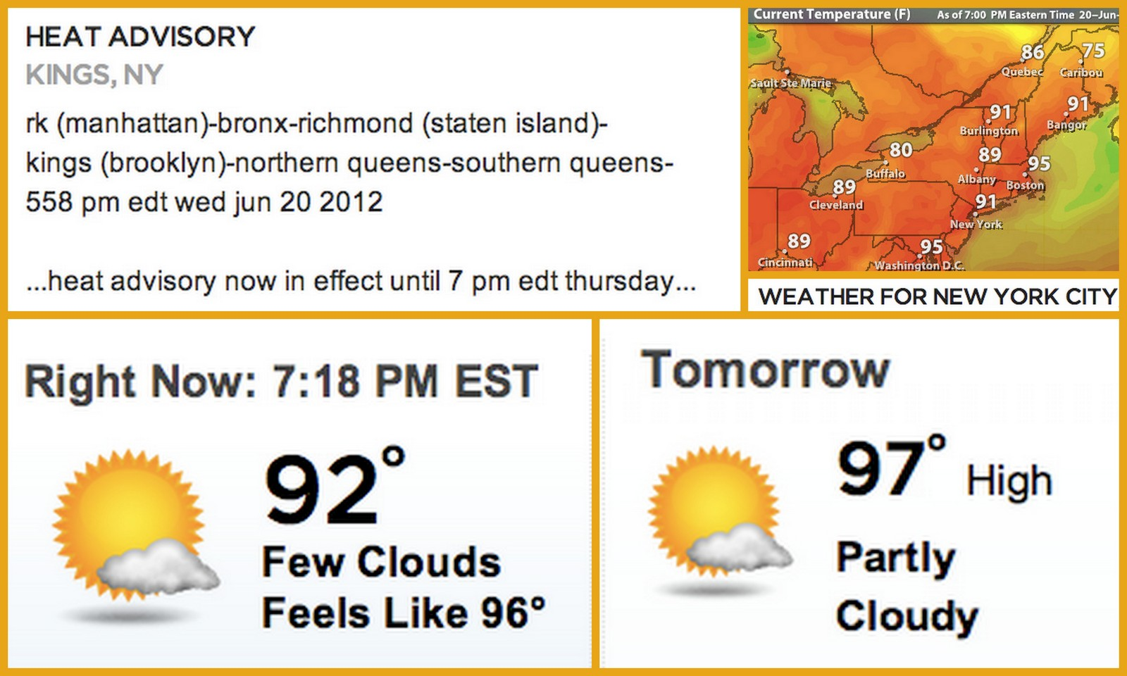 That heatwave that was forecast for New York City appears to have been  #B59316