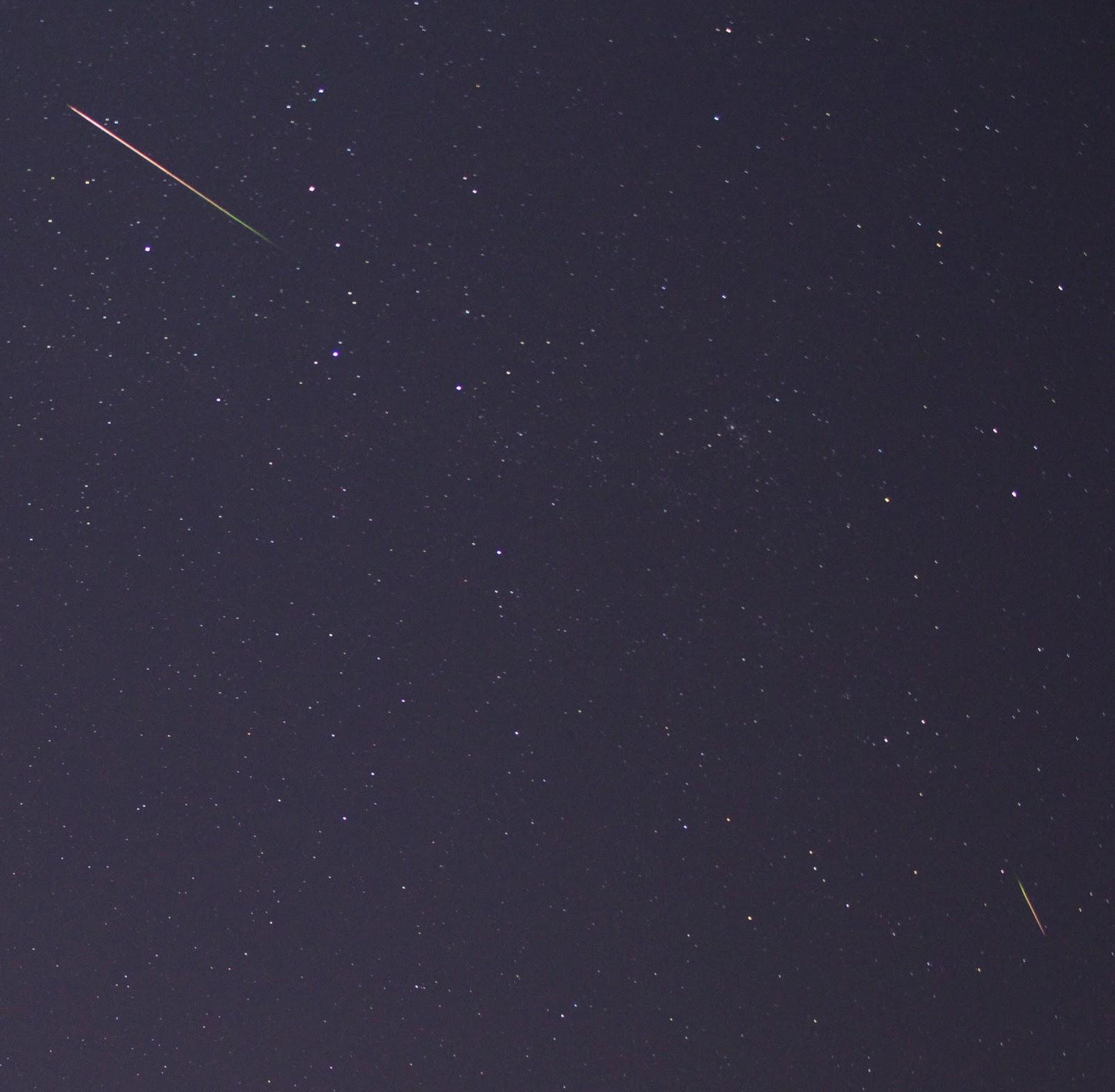 bright perseid meteors