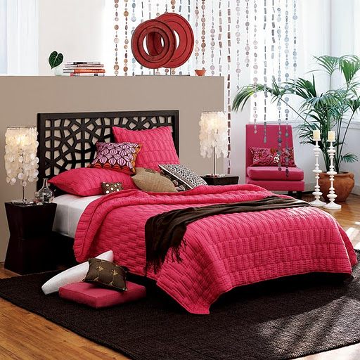 Pretty pink bedroom ideas for Bedroom designs pink and black