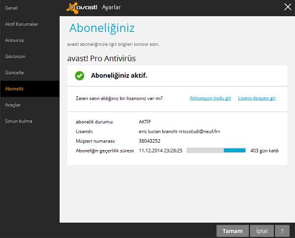 Avast Pro Antivirüs 2014 Full İndir