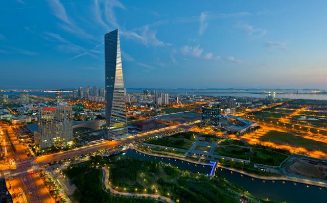 El edificio más alto de Corea del Sur está en Songdo en Incheon