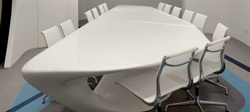 Roca london gallery interesting creative designs for Mesa table design by zaha hadid for vitra
