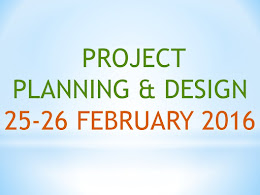 5. Project planning and design