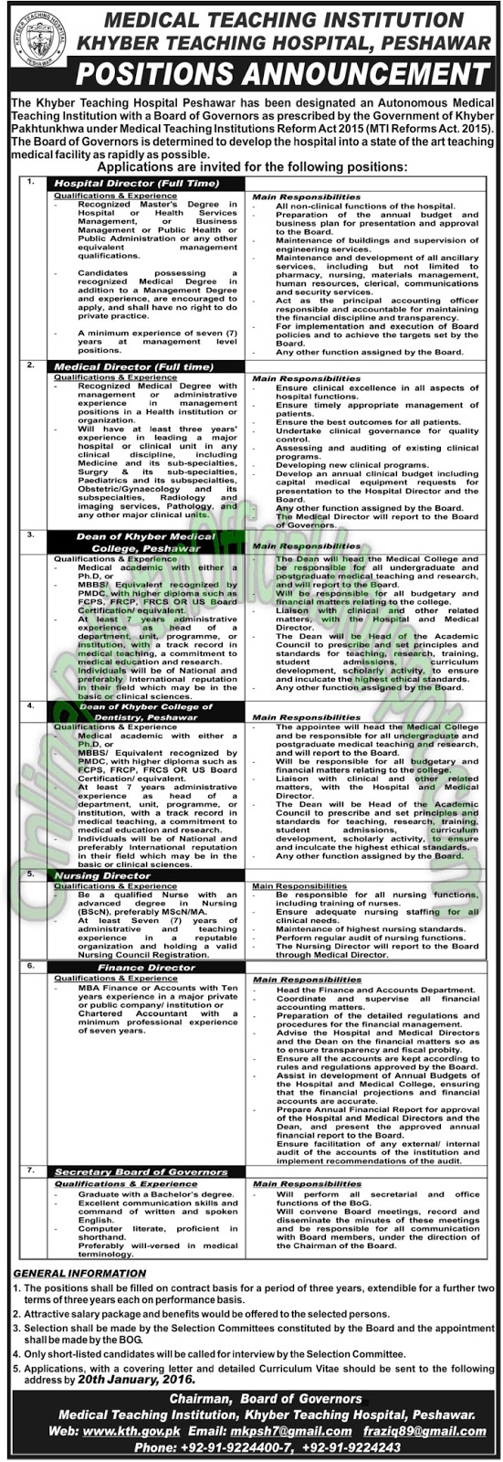 Medical Teaching Institution, Khyber Teaching Hospital - Peshawar