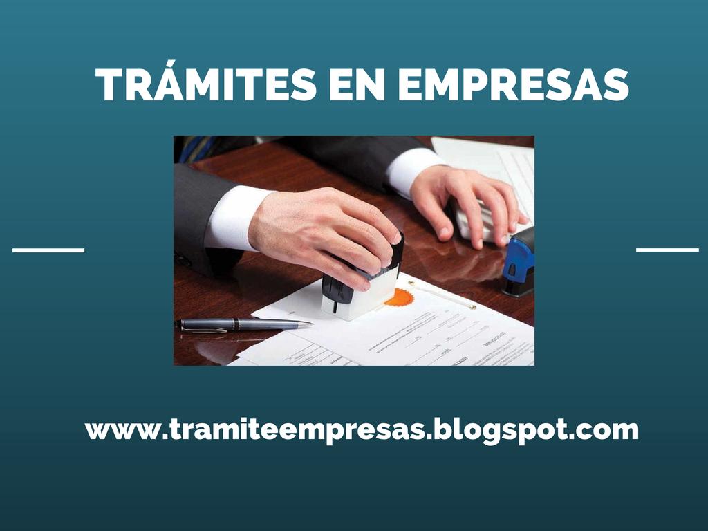 TRÁMITES EN EMPRESAS