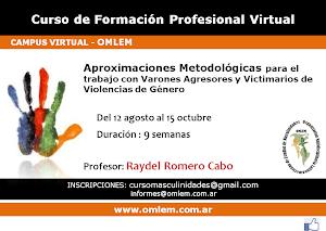 Curso Virtual- Trabajo con Varones Agresores y Victimarios de Violencia de género