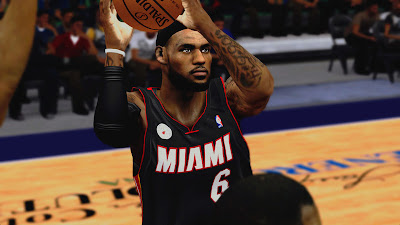 NBA 2K13 LeBron James Cyberface Patch