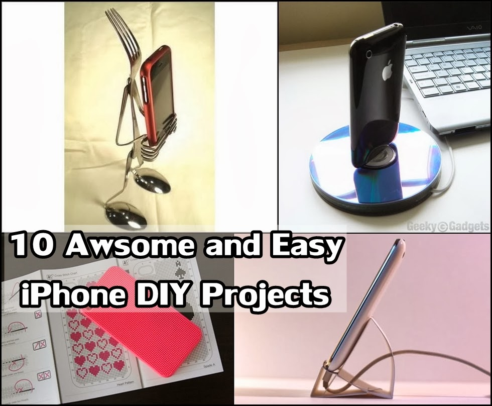 10 awesome and easy iphone diy projects diy craft projects for Epic diy projects
