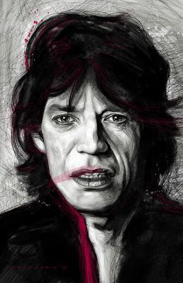 Retratos de famosos- Mick Jagger
