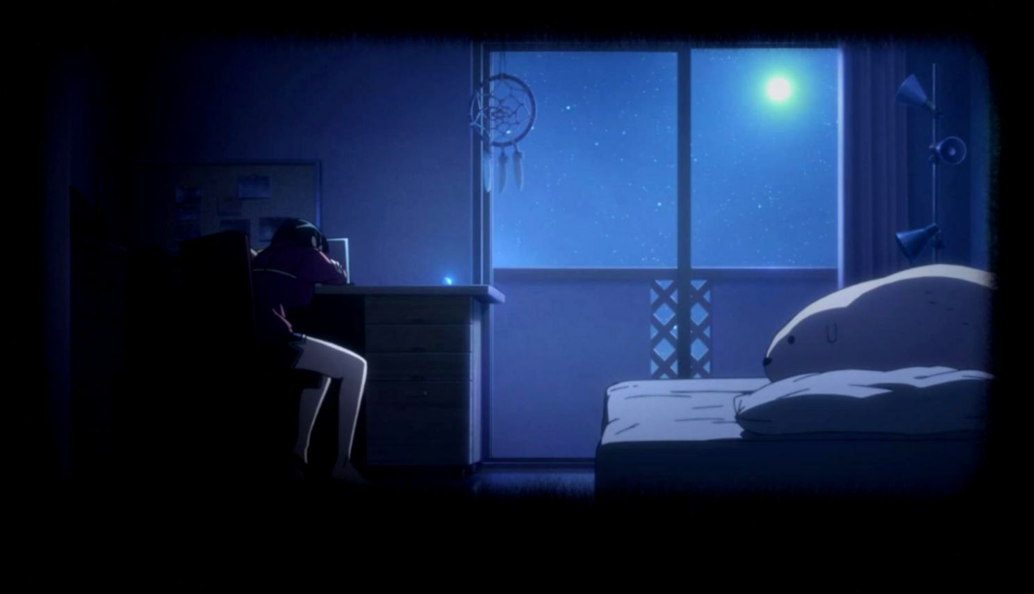 Anime Girl In Bed Room
