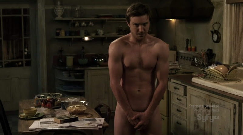 Sam Huntington Shirtless on Being Human s1e08