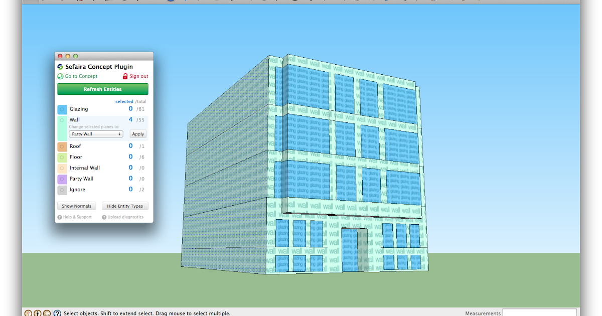 Retired sketchup blog sketchup pro case study green for Sketchup building