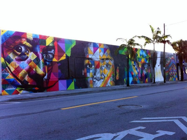 Work In Progress by Brazilian Street Artist Kobra in Florida For Art Basel 2013. 1