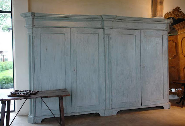 Italian Armoire, (ref. # 000190) 240 cm h x 375 cm w x 57 cm d, L's pick available at Garnier (be) as seen on linenandlavender.net