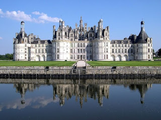 The royal Château de Chambord at Chambord, Loir-et-Cher, France