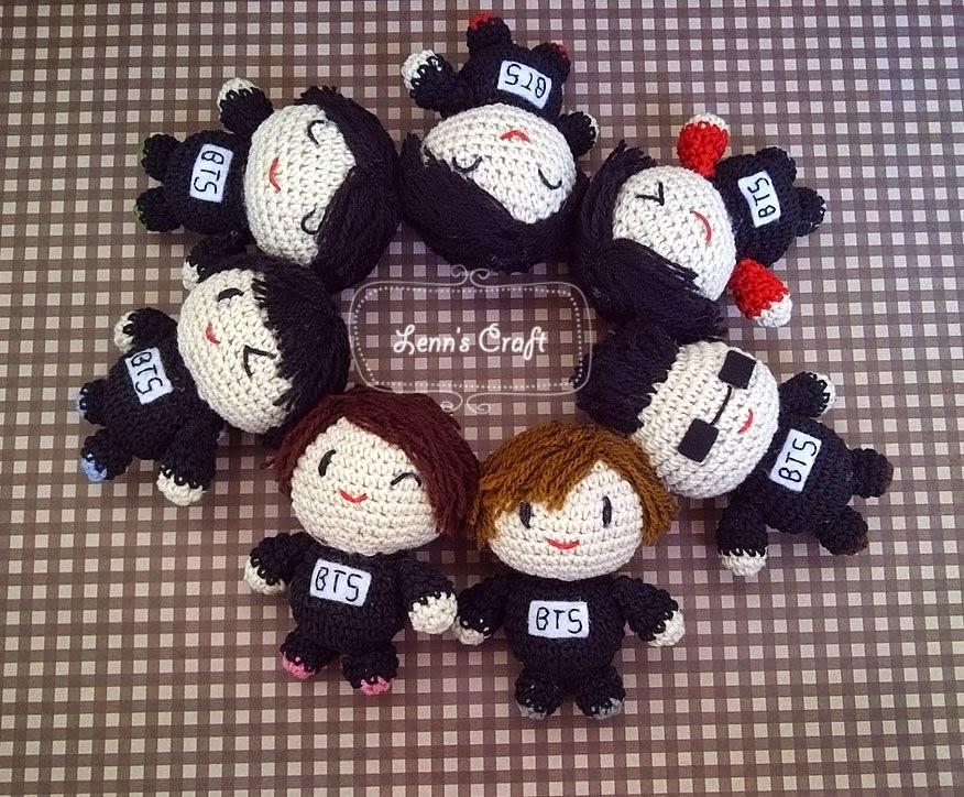 Amigurumi Chibi Doll : Lenn's craft ♥ handmade doll♥ amigurumi ♥ : bts bangtan boys
