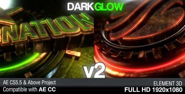 VideoHive Dark Glow Logo Reveal v2