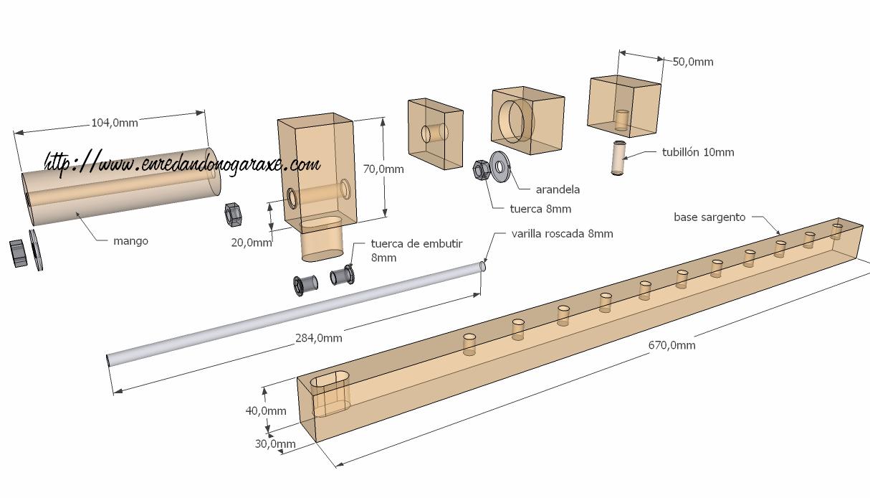 Enredando no garaxe for Sargentos de madera