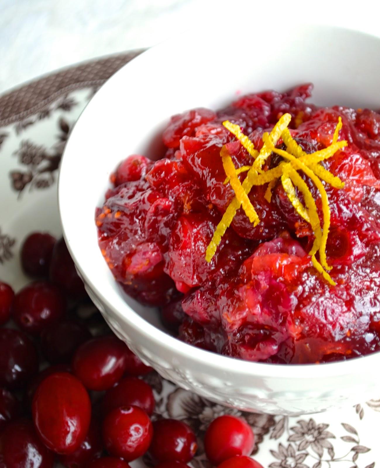 honey sweetened cranberry sauce